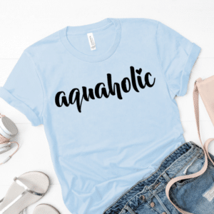 Aquaholic Mockup Screen Print Transfer
