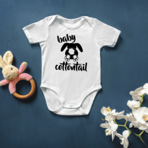 Baby Cottontail Mockup Screen Print Transfer