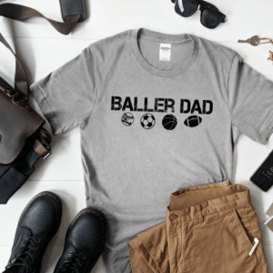 Baller Dad Mockup Screen Print Transfer