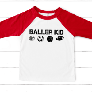 Baller Kid Mockup Screen Print Transfer