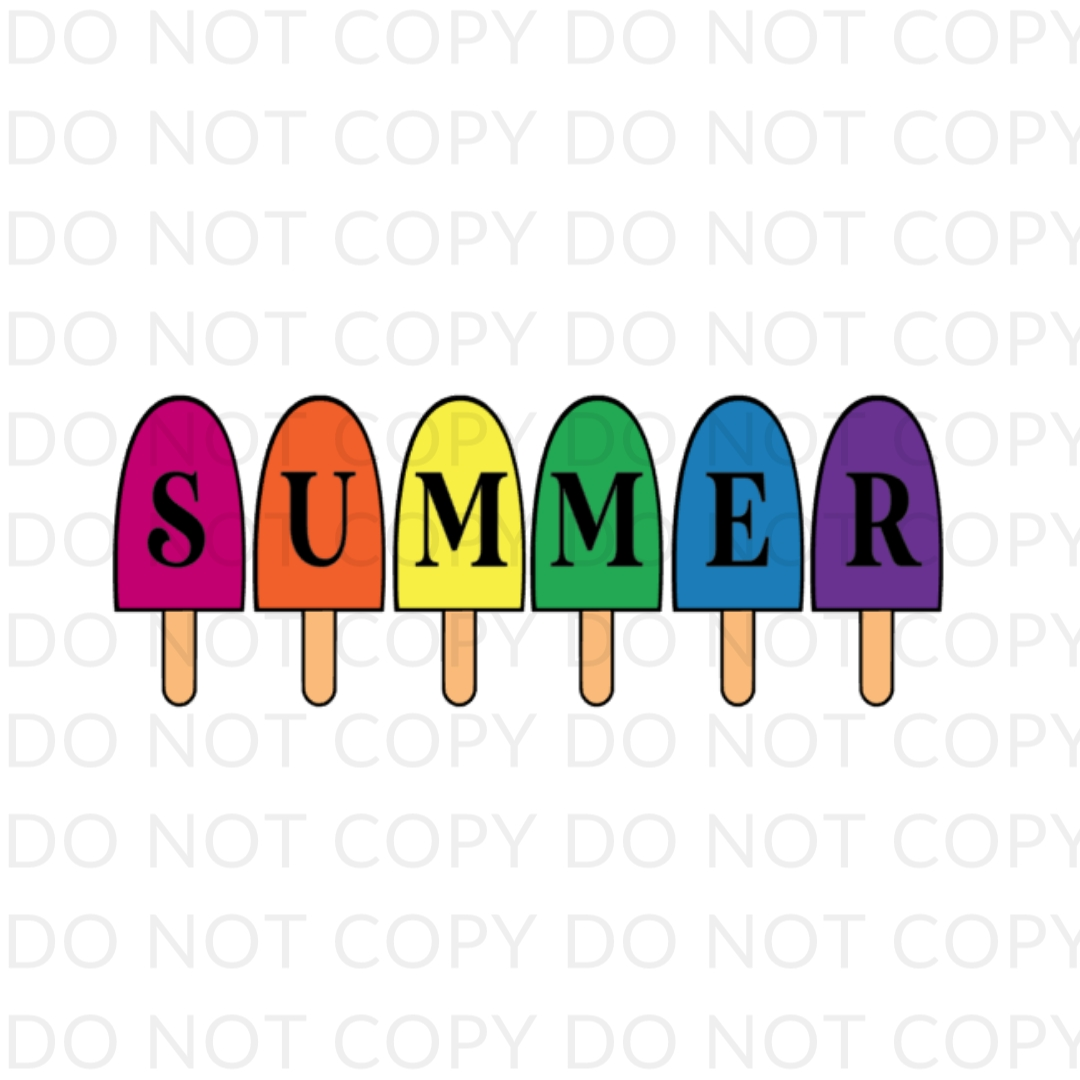 Summer Popsicle Digital Design