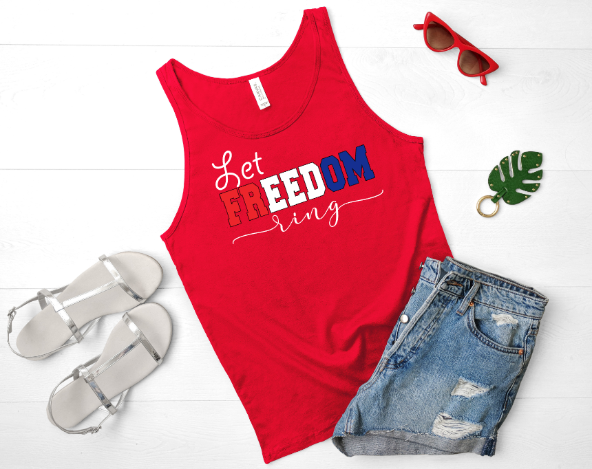 Let Freedom Ring Red Mockup