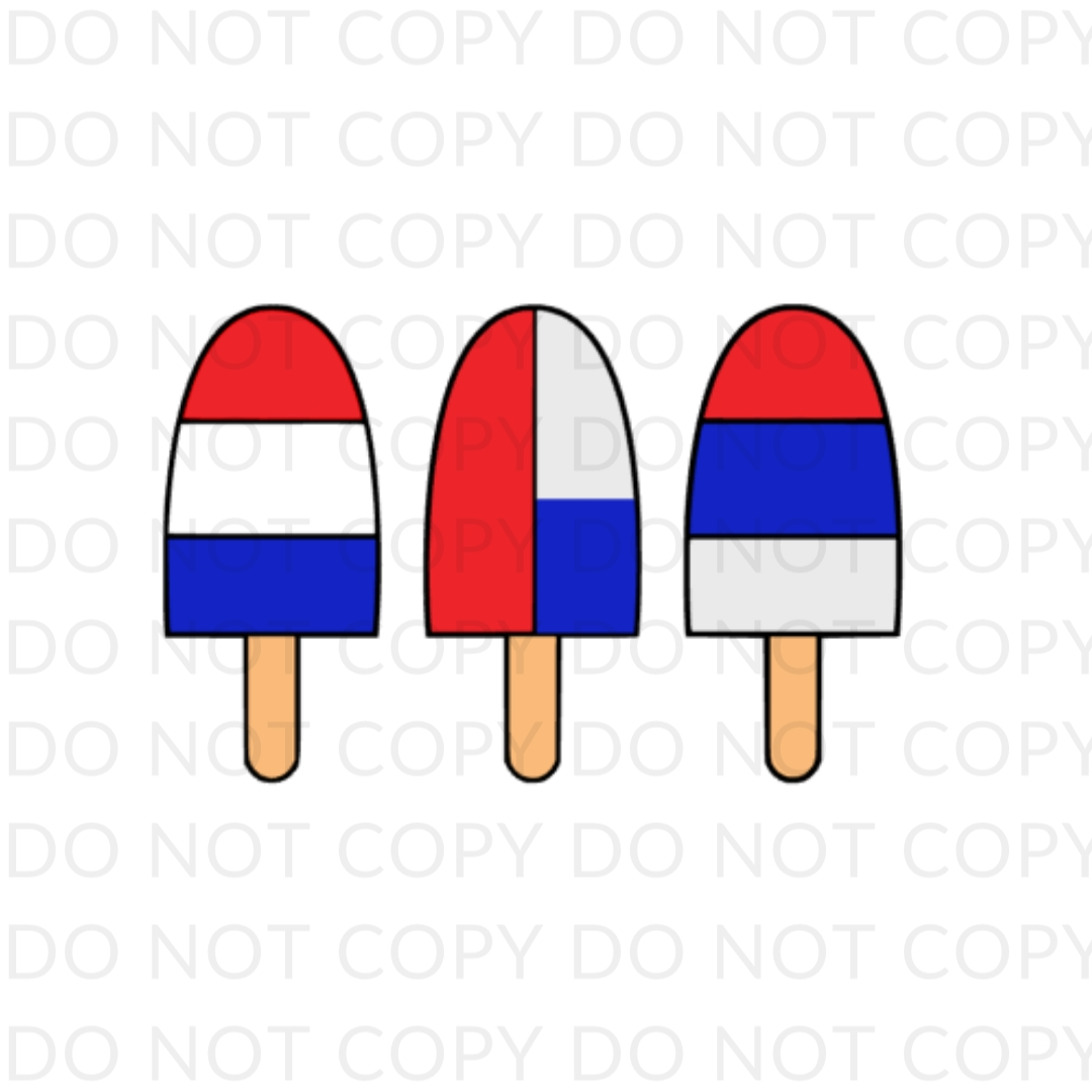 Red White And Blue Pops Digital Design