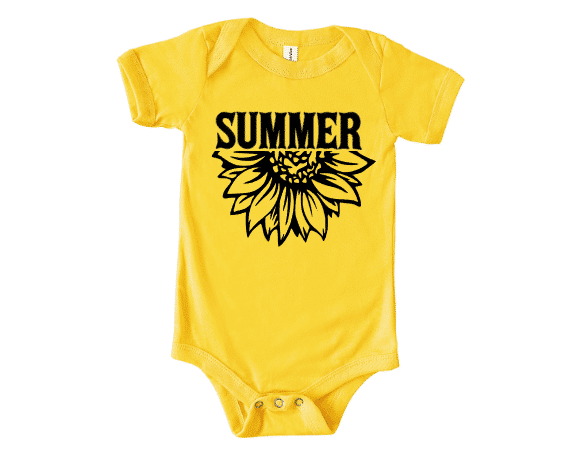 Summer Flower Infant Mockup