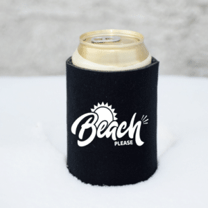 Beach Please Koozie Mockup