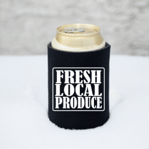 Fresh Local Produce Koozie Mockup