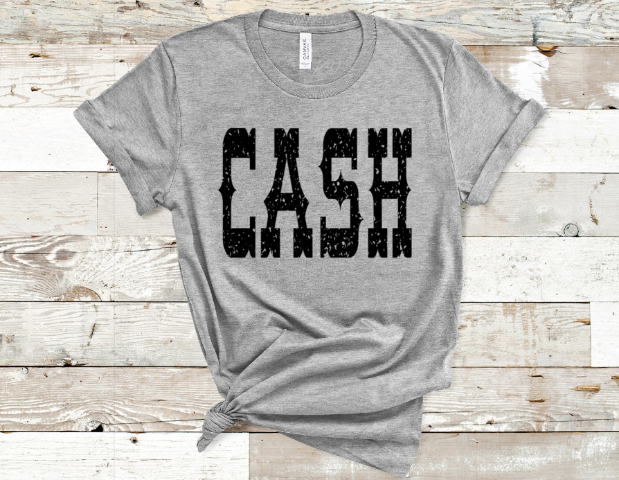 Cash Screen Print Transfer