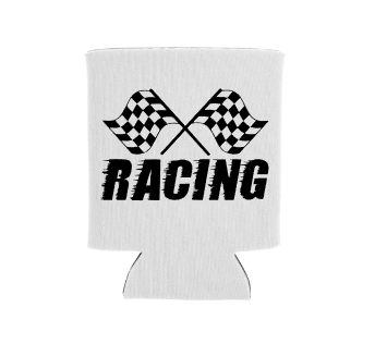 Racing Koozie Screen Print Transfer
