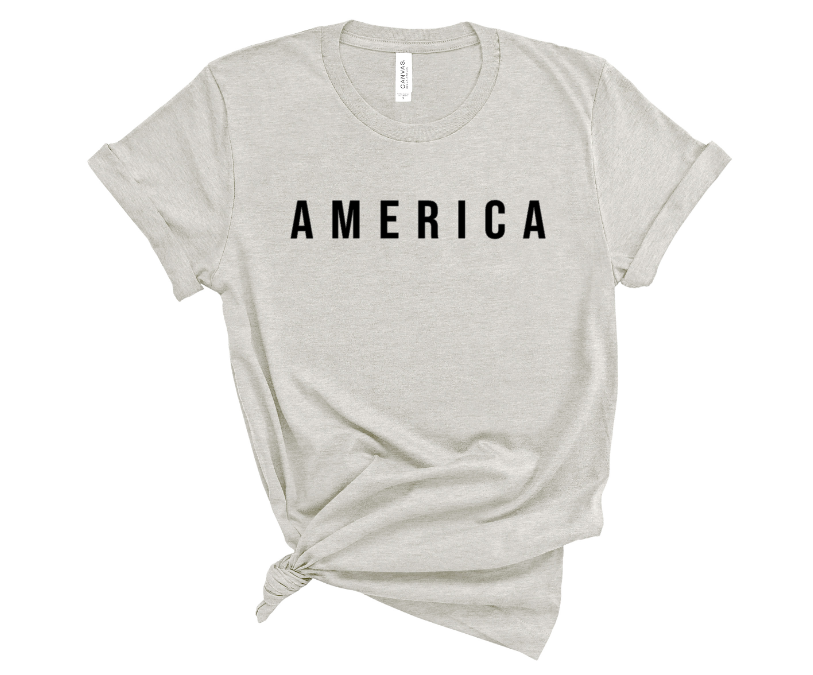 America Screen Print Transfer