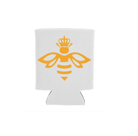 Queen Bee White Koozie Screen Print Transfer