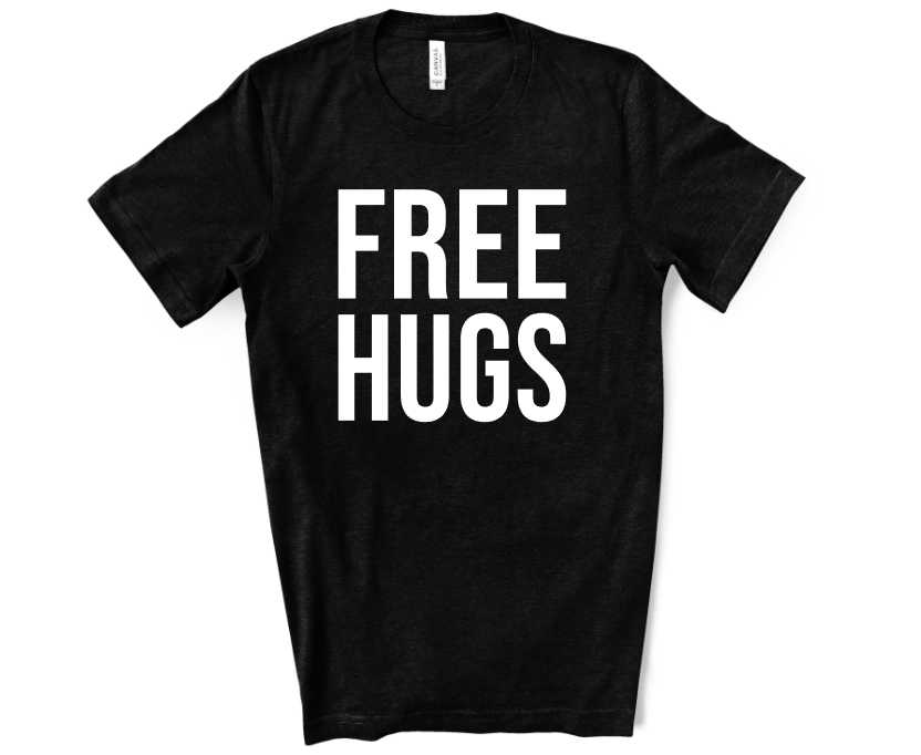 free hugs screen print transfer