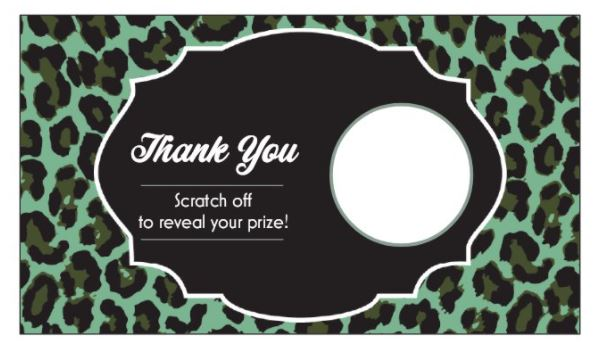 Green Leopard Scratch Off Card
