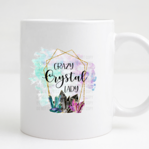 crazy crystal lady coffee mug