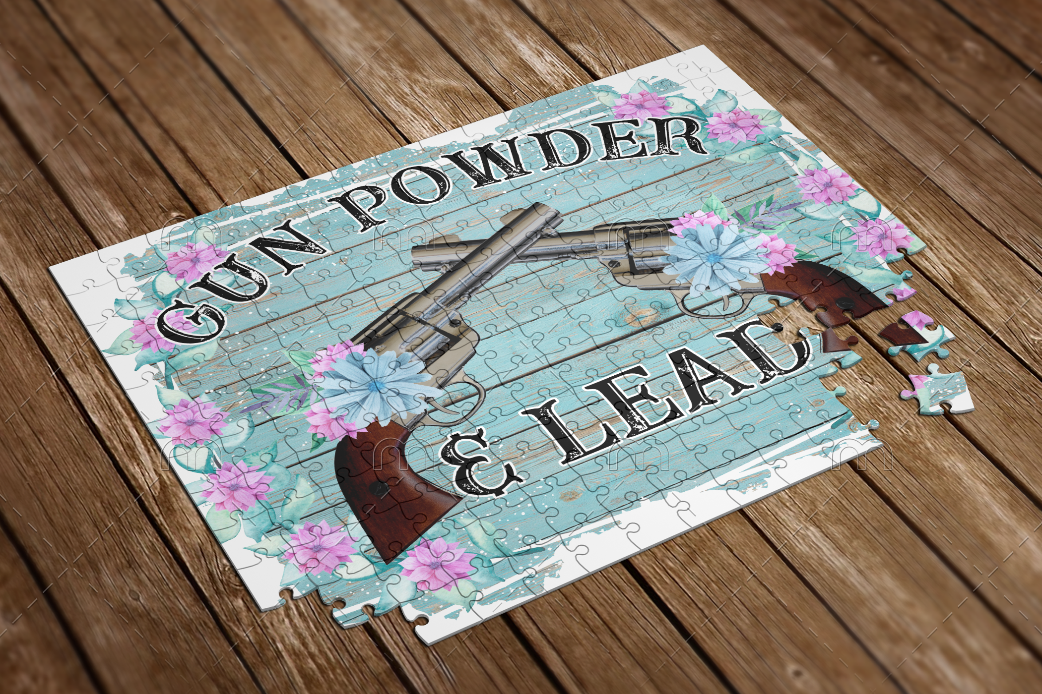 gun powder and lead puzzle