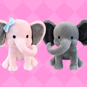 Stuffed Elephant Birth Announcement